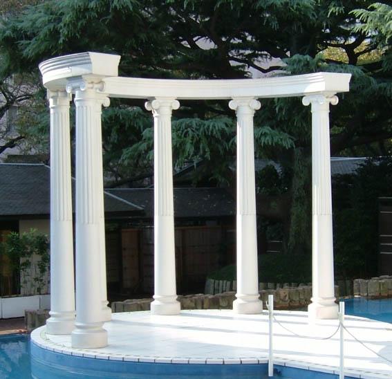 ギリシャ柱 | ギリシャ柱のイオニア式エンタシス【日装アート】 HOME>FRPファッション建材